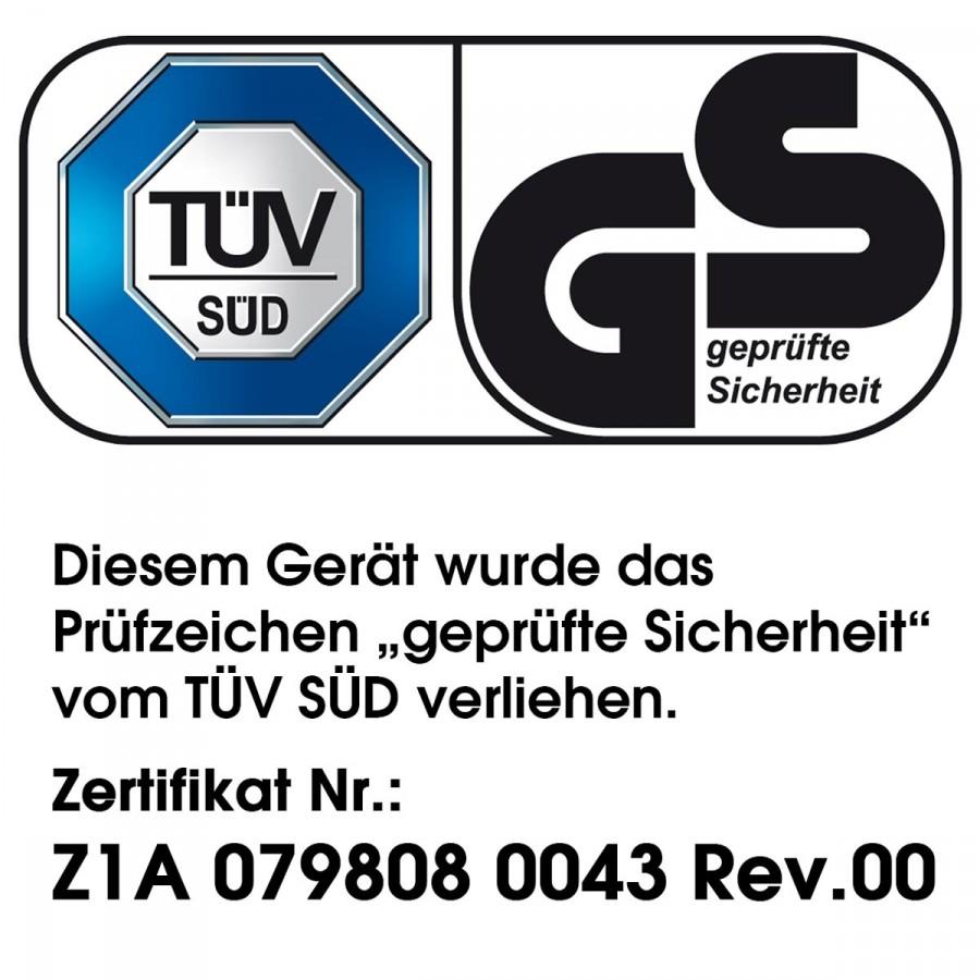 TÜV-GS-geprüfte Sicherheit