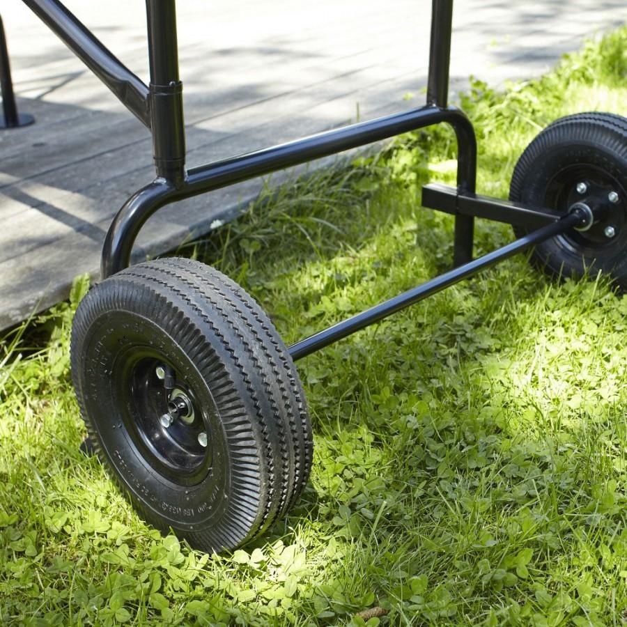 leichter Transport dank großer, luftbefüllter Reifen