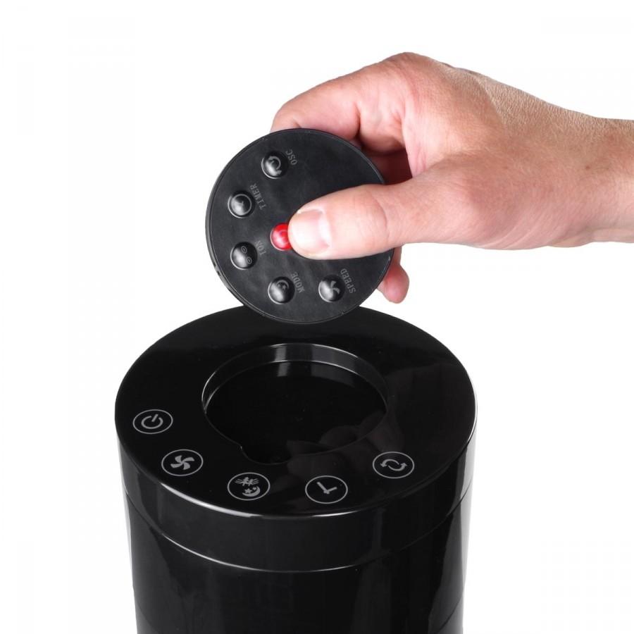 Touch-Bedienung aller Funktionen per kabelloser Fernbedienung