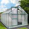Aluminium-Gewächshaus 14 430x250x205 grün