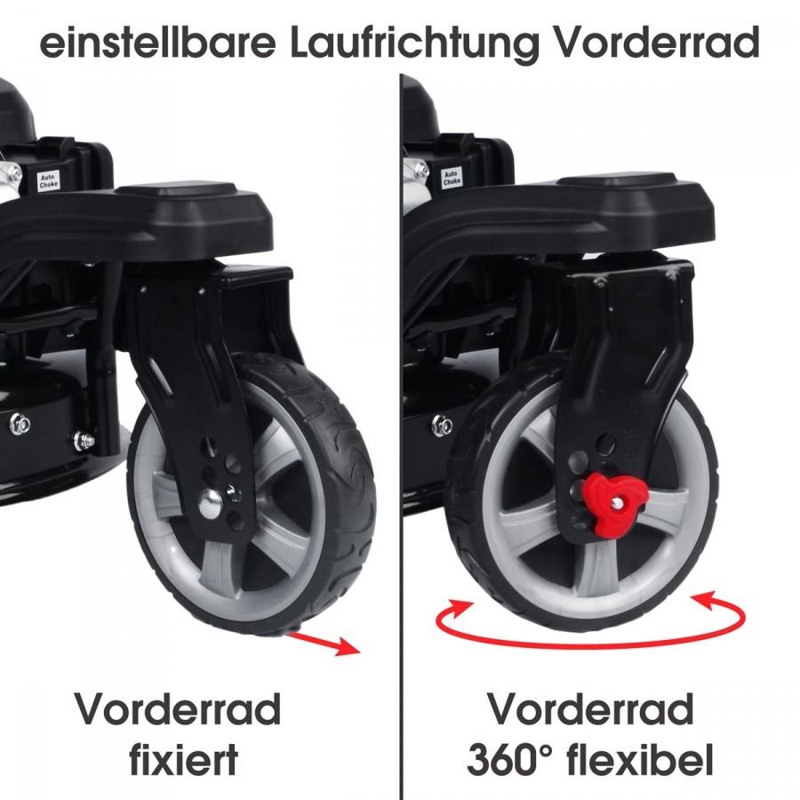 3-Rad-System für größtmögliche Flexibilität und Wendigkeit...