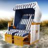 """Strandkorb """"Norderney"""" blau/weiß gestreift"""