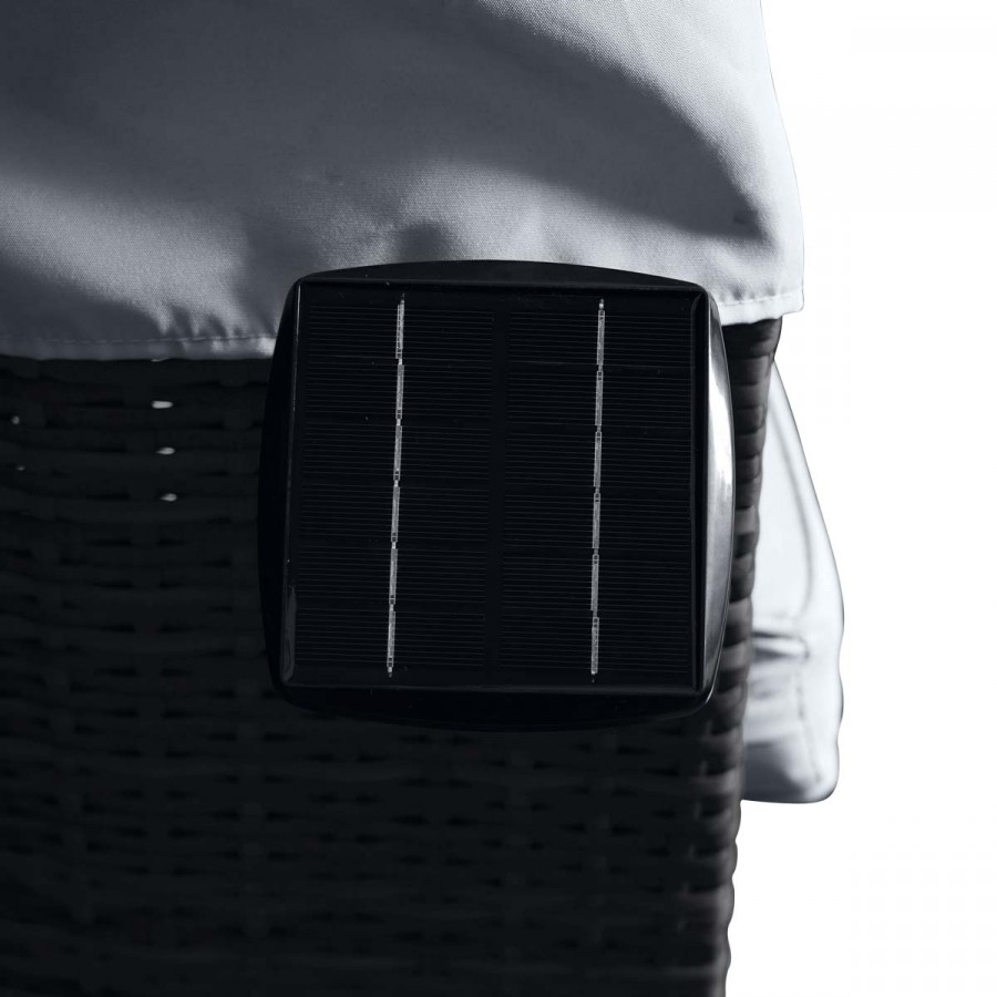 inkl. Solarpanel mit integriertem Akku