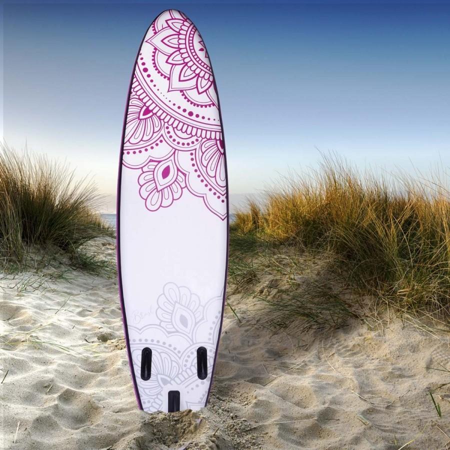 filigranes Kolibri-Design auf der Rückseite des SUP Boards