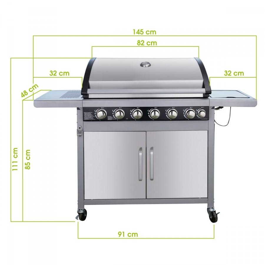 Maße des grills