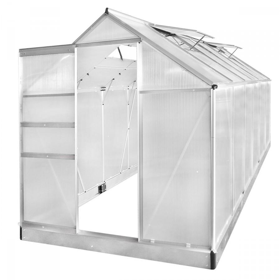 Aluminium-Gewächshaus 06 380x190x195
