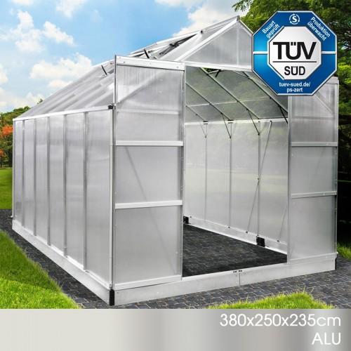Aluminium-Gewächshaus 26 380x250x235