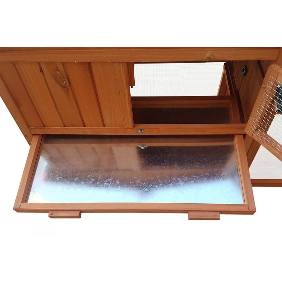 inkl. Schublade mit verzinktem Metallboden zur einfachen Reinigung