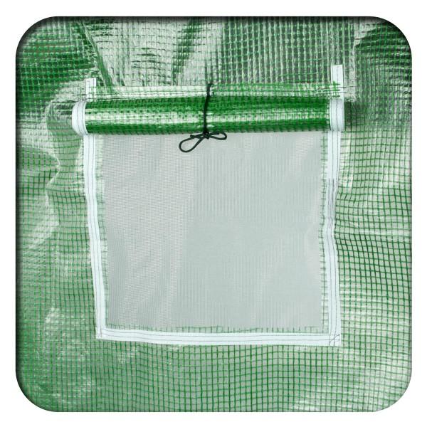6 aufrollbare Fenster mit Mückennetz
