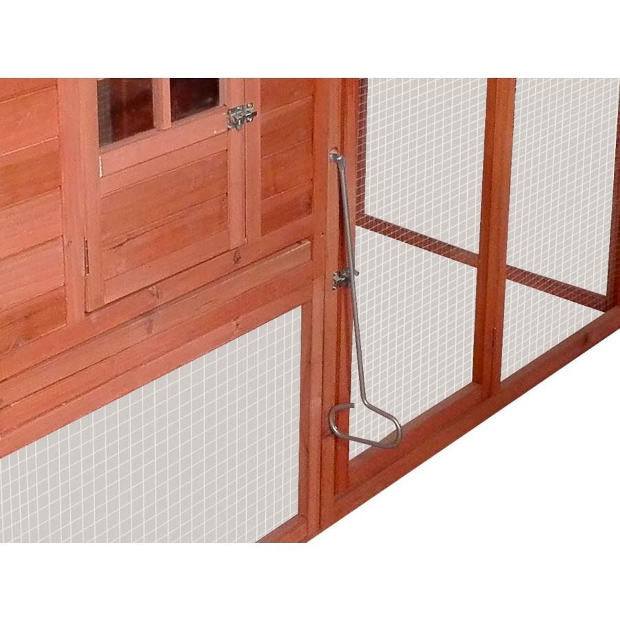 inkl. Zugstange, um die innenliegende Stalltür von aussen öffnen und schließen zu können