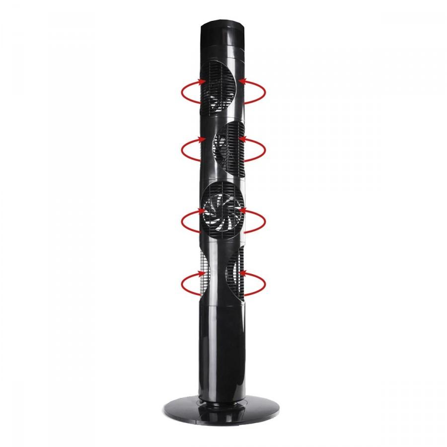 Turmventilator mit 4 Ventilatoren 360 Grad