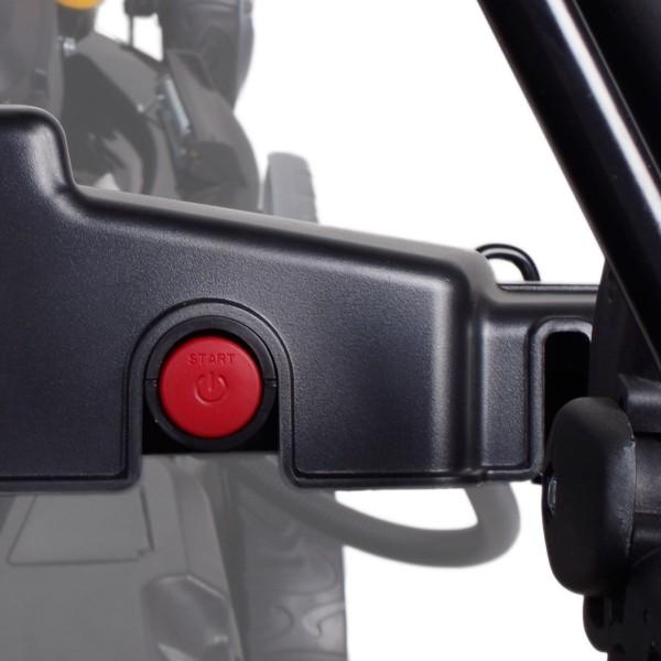 mit bequemem Elektrostart-System: Einfach Anlasserknopf drücken und schon startet der Motor