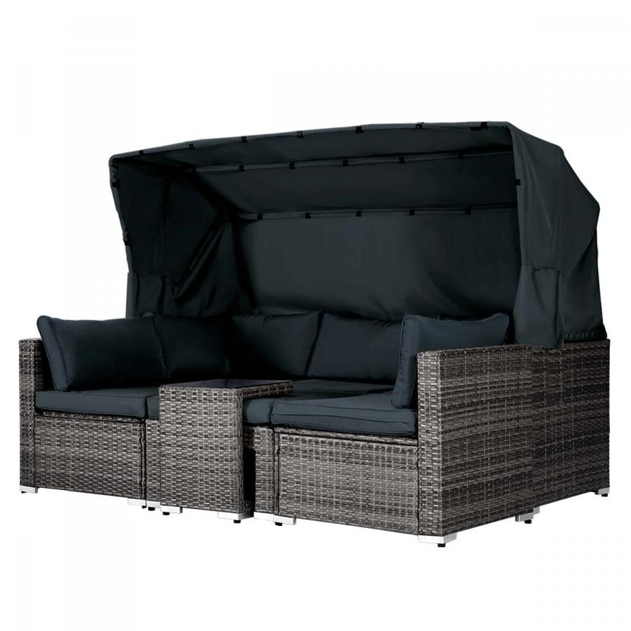 Lounge-Sofa mit integriertem Tisch