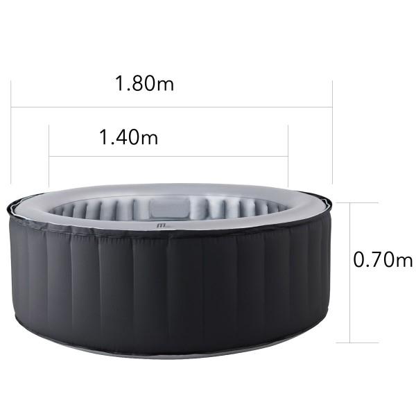 klassische Form 180x70cm bietet 4 Erwachsenen ausreichend Platz