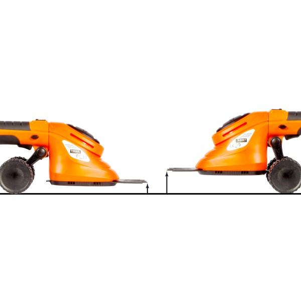 per Radsatz verstellbare Schnitthöhe von insgesamt 20-80mm