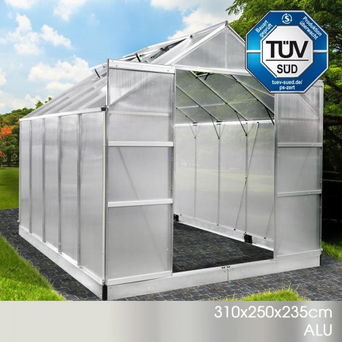 Aluminium-Gewächshaus 22 310x250x235