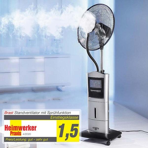 Standventilator inkl. Sprühnebel, Ionisator, Anti-Mücken