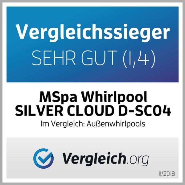 """Aufblasbarer Whirlpool """"Silver Cloud Delight"""""""