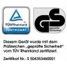 Zertifiziert vom TÜV Rheinland