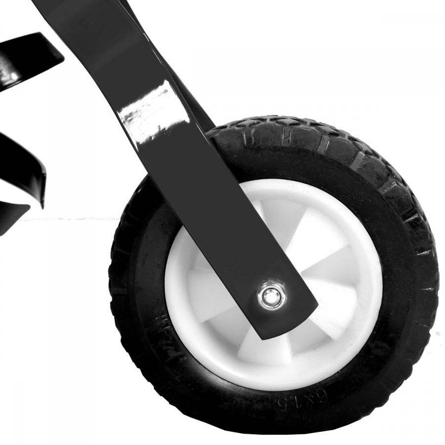 klappbares Transportrad für einfaches Fahren zum Einsatzort