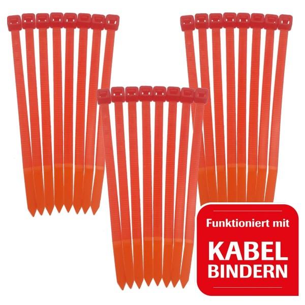 24 Kabelbinder gleich im Lieferumfang mit dabei