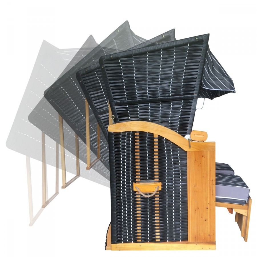 5-fach verstellbare Rückenlehne bis zum Vollieger