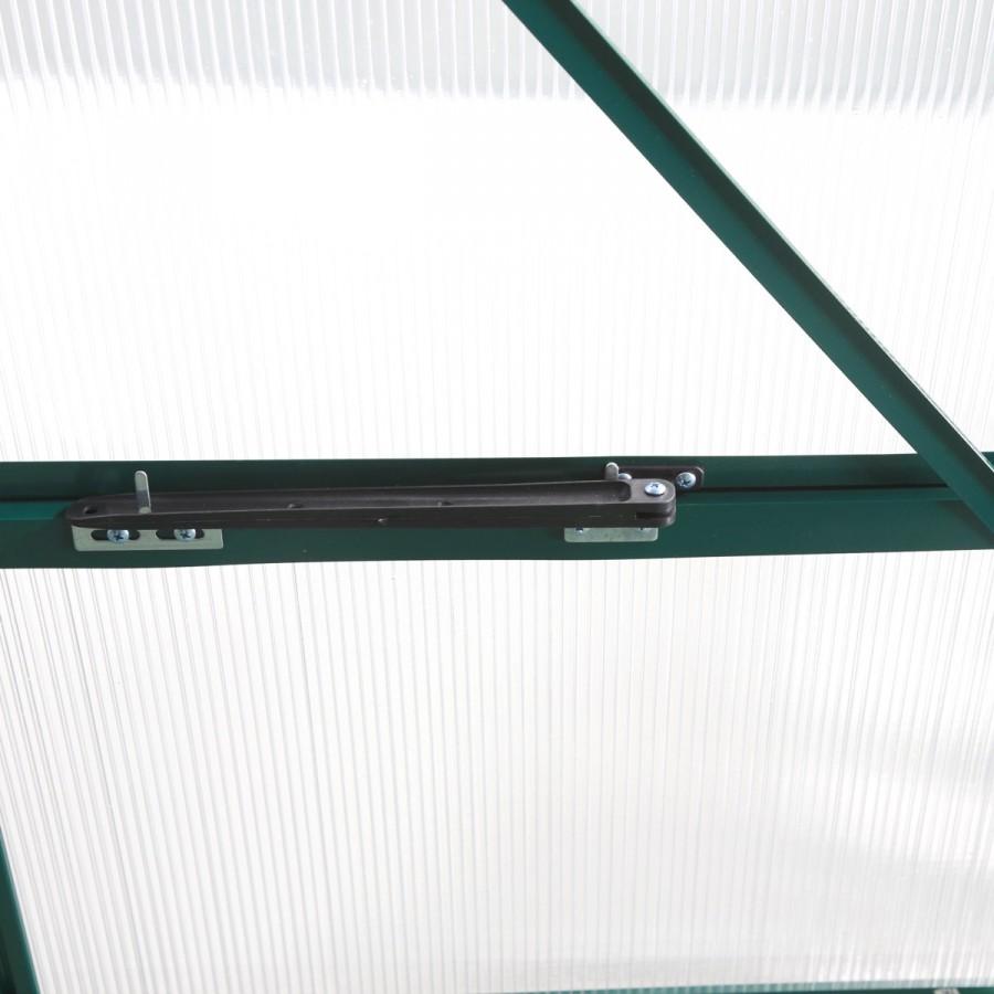 4 Fenster fest verschließbar für beste Luftzirkulation
