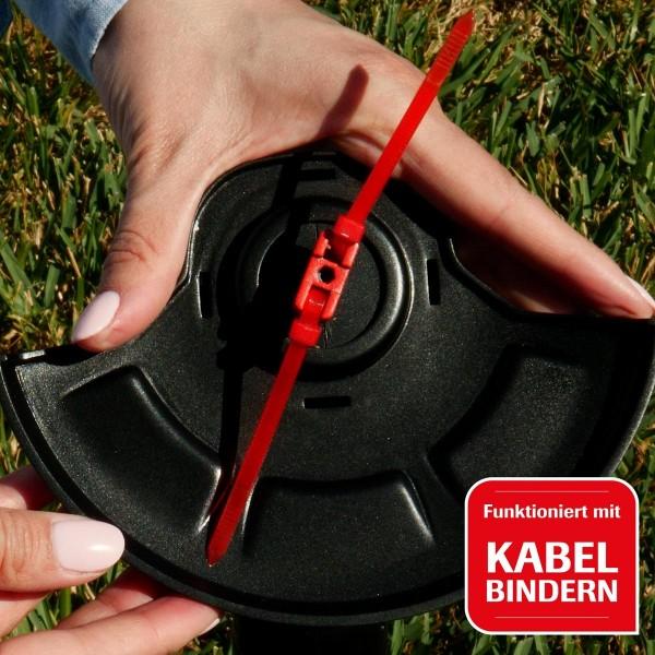 funktioniert mit herkömmlichen Kabelbindern