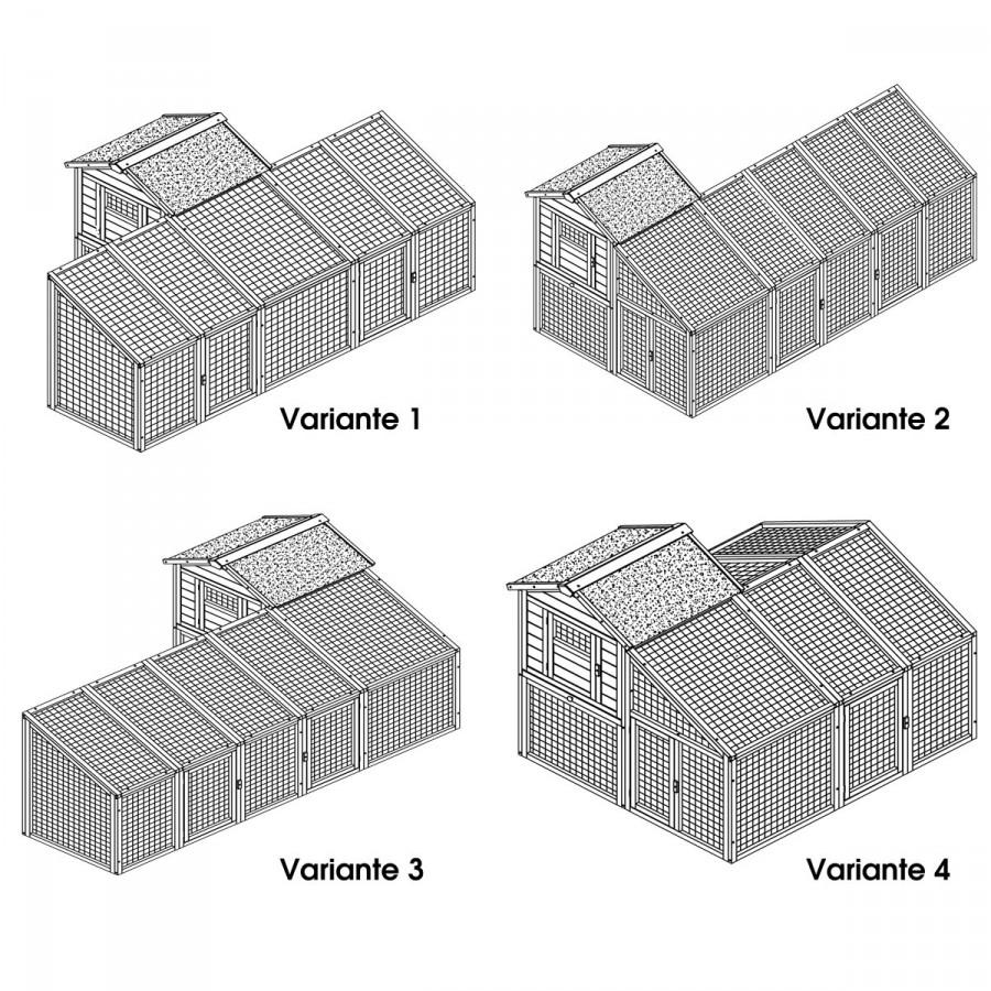4 mögliche Aufbau-Varianten