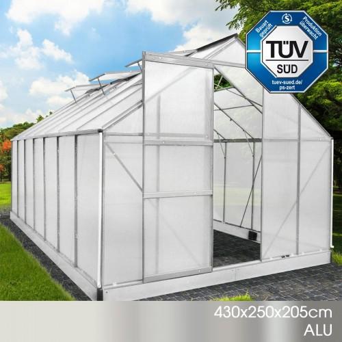 Aluminium-Gewächshaus 05 433x250x205
