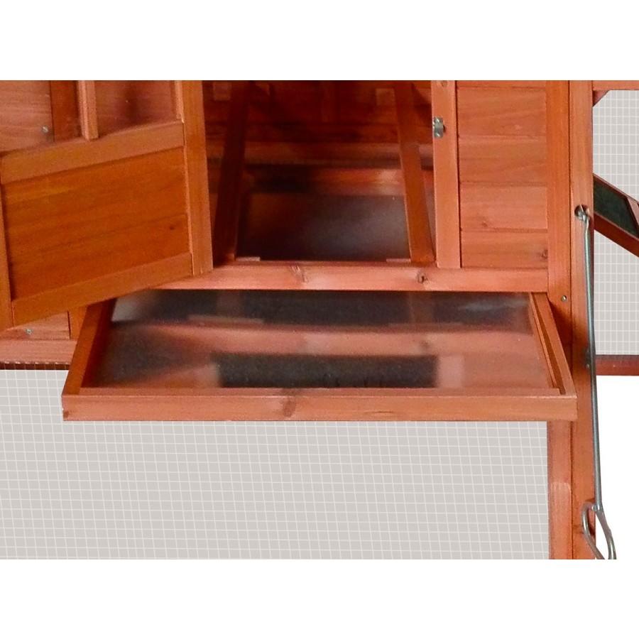ausziehbare Schublade aus verzinktem Metallboden zur einfachen Reinigung