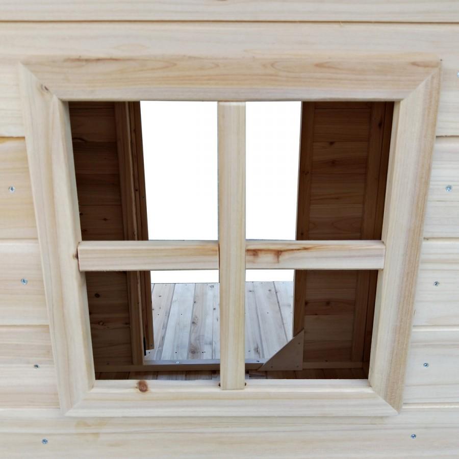 2 Sprossen-Fenster mit 35x35cm