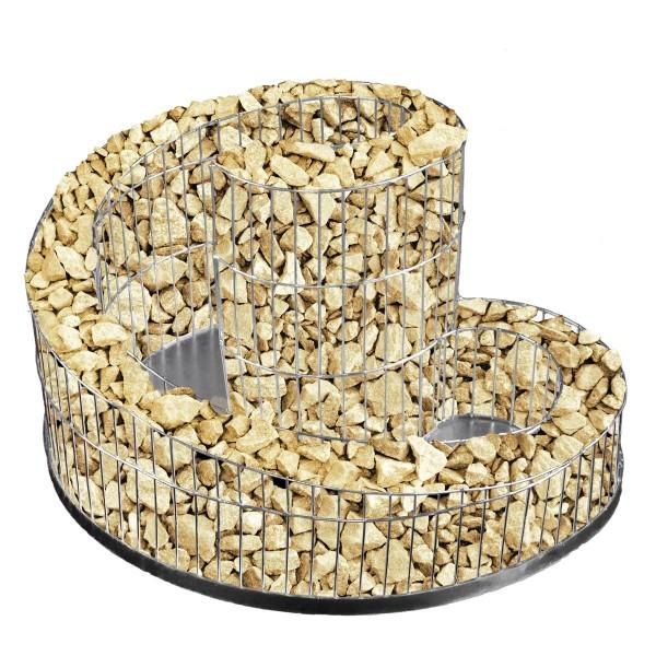 für ca. 24kg Steine, einfach auffüllen - fertig.