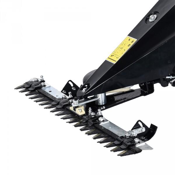 2-Messer-System mit variabel einstellbaren Bodengleitern (Schnitthöhe 30-80mm)