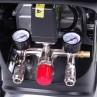 Druckregler, 2 Manometer und 2 Schnellkupplungsanschlüsse für Werkzeugaufsätze