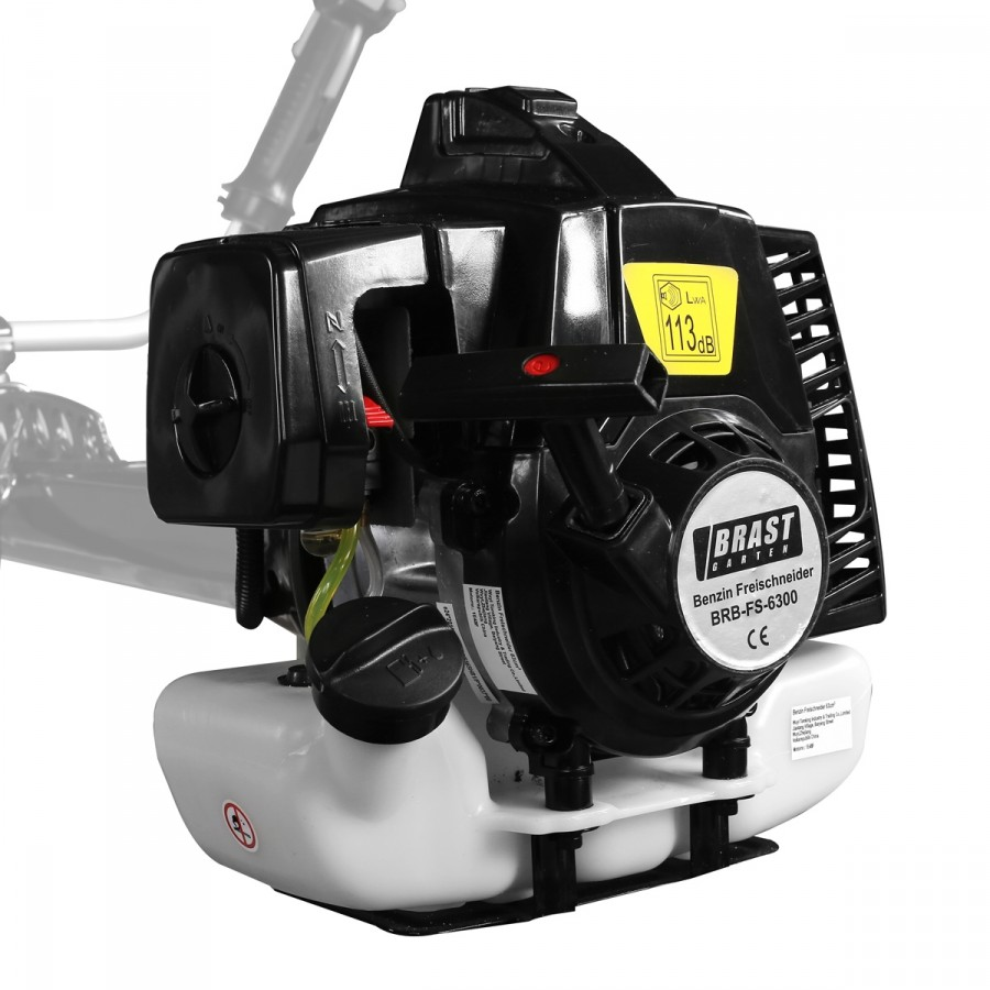 kraftvoller 2,5kW (3,4PS)-Motor 63ccm