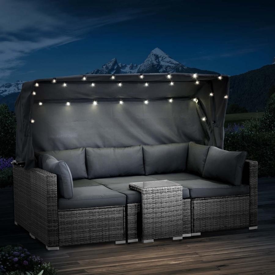 mit 30 warmweißen LEDs für wunderschönes Sternenfeeling bei Nacht