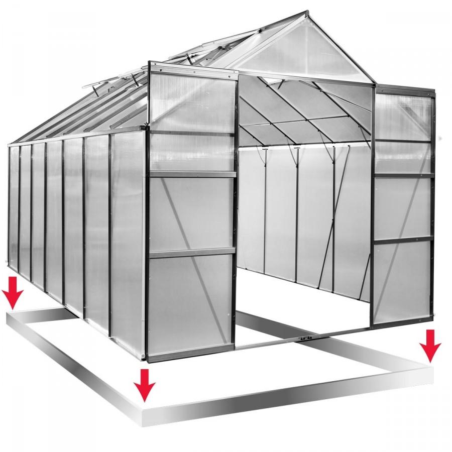 Inkl. Stahl-Fundamentrahmen mit Anti-Rost-Galvanisierung