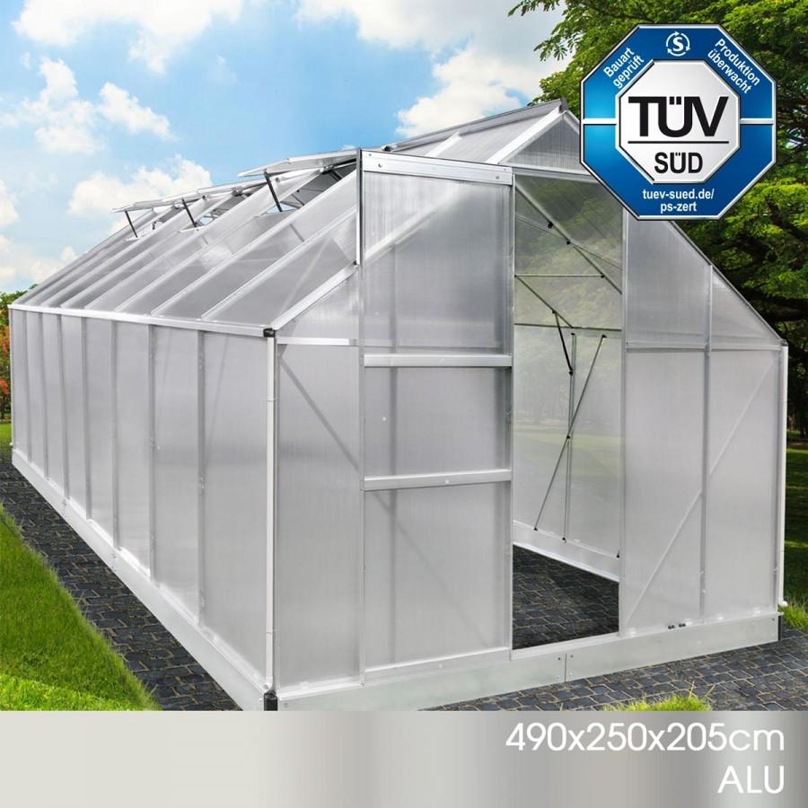 Aluminium-Gewächshaus 09 494x250x205
