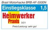 Testergebnis Auszeichnung Heimwerkerpraxis Motorhacke